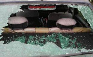 L'une des voitures vandalisées à Saint-Gély-du-Fesc