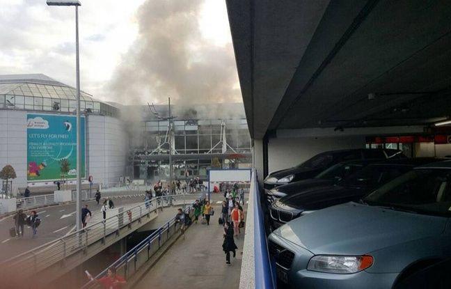 Double explosion à l'aéroport de Bruxelles.
