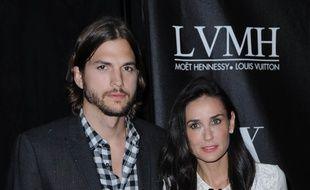Les ex-époux Ashton Kutcher et Demi Moore, en 2011