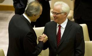 La Russie et la Chine ont opposé leur veto jeudi au Conseil de sécurité de l'ONU à une résolution occidentale menaçant le régime syrien de sanctions.