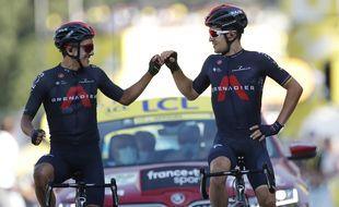 Carapaz et Kwiatkowski arrivent ensemble au terme de la 18e étape du Tour de France.