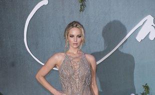 L'actrice Jennifer Lawrence à la première de Mother! à Londres