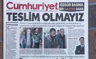 Illustration du journal d'opposition Cumhuriyet dont neuf salariés ont été placés en détention en Turquie le 5 novembre 2016