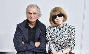 Le photographe Patrick Demarchelier et Anna Wintour, la rédactrice en chef du «Vogue» américain, le 2 mars 2017.