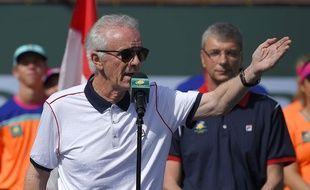 Raymond Moore après la finale d'Indian Wells le 20 mars 2016.
