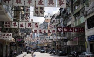 Une rue de Hong Kong, le 7 septembre 2014