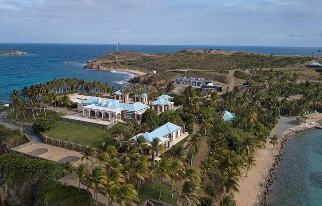 La résidence de Jeffrey Epstein sur son île de Little St. James, dans les îles Vierges.