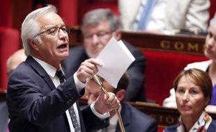 Le ministre du travail François Rebsamen lors des questions à l'Assemblée nationale, le 2 juin 2015 à Paris