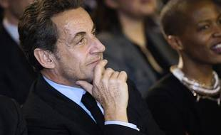 Nicolas Sarkozy au meeting de NKM, le 10 février 2014.
