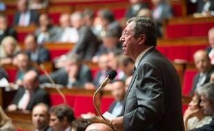 Patrick Balkany, maire (UMP) de Levallois-Perret à l'Assemblée nationale en juillet 2013.