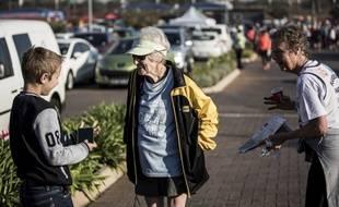 Deirdre Larkin, une Sud-Africaine de 85 ans, enchaîne les courses en réalisant de très bons chronos.
