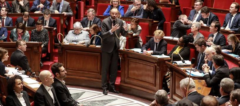 Le Premier ministre, Edouard Philippe, lors des questions au gouvernement à l'Assemblée nationale, le 25 février 2020.