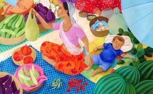 Extrait d'une illustration d'«Une cuisine du monde pour les bébés».