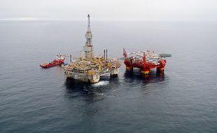 Une plate-forme pétrolière norvégienne en mer du Nord.