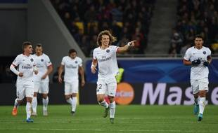 David Luiz et les Parisiens l'ont largement emporté face au Shakhtar Donetsk (0-3), en Ligue des champions, le 30 septembre 2015.
