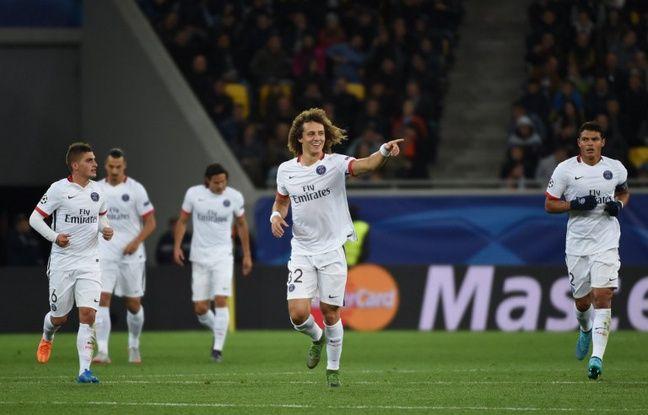David Luiz et les Parisiens l'ont largement emport face au Shakhtar Donetsk (0-3), en Ligue des champions, le 30 septembre 2015.