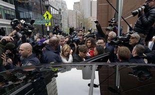 L'actrice américaine Felicity Huffman à sa sortie du tribunal, à Boston, le 13 mai 2019.
