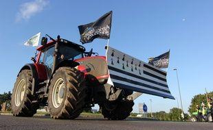 Illustration d'une manifestation d'agriculteurs le 2 septembre 2015 à Rennes.