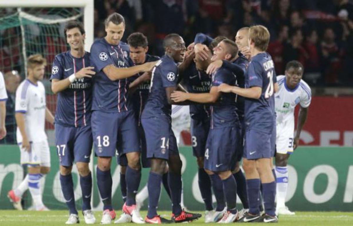 Le Parisiens avant le match de Ligue contre Toulouse, le 14 septembre 2012 au Parc des Princes. – REAU ALEXIS/SIPA