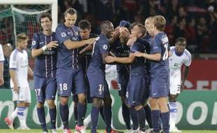 Le Parisiens avant le match de Ligue contre Toulouse, le 14 septembre 2012 au Parc des Princes.