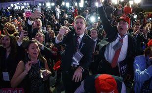 Des supporters de Donald Trump à l'annonce de sa victoire, le 9 novembre 2016.