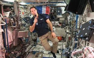 L'astronaute français Thomas Pesquet lors de sa conférence de presse en liaison avec l'ESA. /Credit:ESA/SIPA/1611231757