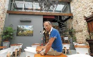 Le chef Michel Portos, jury de «MasterChef», dans sa brasserie de la rue Fortia (6e).