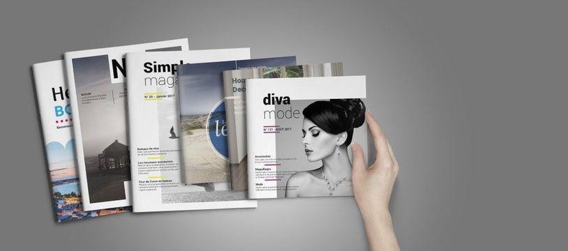 On peut créer un journal, un magazine ou encore un dépliant.