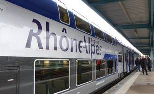 Illustration d'un TER à Lyon