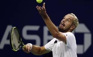 Richard Gasquet au 2e tour de l'US Open, le 30 août 2018.