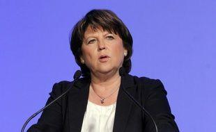"""Martine Aubry, première secrétaire du Parti socialiste, a répété vendredi, sur Europe 1, que les conditions étaient """"réunies"""" pour qu'elle quitte la direction du parti après le Congrès fin octobre, précisant toutefois: """"Si tout se passe comme je le souhaite""""."""