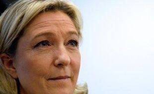 Marine Le Pen, présidente du Front national, s'exprime lors d'une conférence de presse le 21 janvier 2014 à Paris
