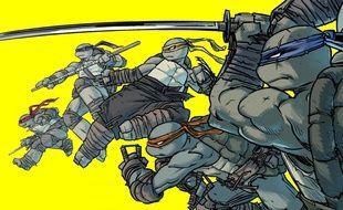 Les Tortues Ninja accompagnées de Jennika