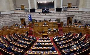 Le parlement grec, à Athènes le 15 janvier 2021.