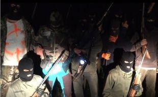 Capture d'écran de la vidéo du commando relançant la chasse à l'ours diffusée en septembre dernier.
