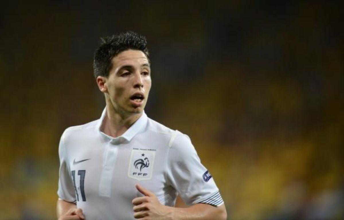Le milieu de terrain de l'équipe de France, Samir Nasri, a insulté un rédacteur de l'AFP en zone mixte après l'élimination de l'équipe de France, battue samedi par l'Espagne 2 à 0 en quarts de finale de l'Euro-2012 à Donetsk. – Franck Fife afp.com