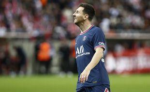 Lionel Messi lors de son premier match de Ligue 1 avec le PSG, le 29 août 2021 à Reims.