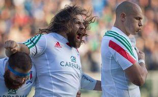 Martin Castrogiovanni avec l'Italie contre l'Afrique du Sud, le 22 novembre 2014.