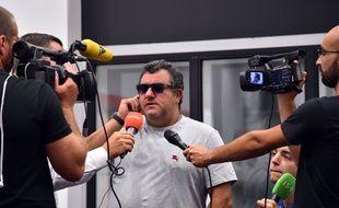 Mino Raiola à Nice lors de l'arrivée de Balotelli, le 2 septembre 2016.