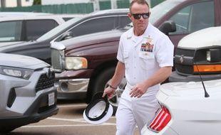 L'ex-Navy SEAL américain Edward Gallaghe à son arrivée au tribunal militaire, le 26 juin 2019.
