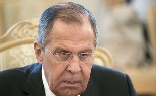 Le ministre russe des Affaires étrangères Sergei Lavrov le 13 février 2018 à Moscou.