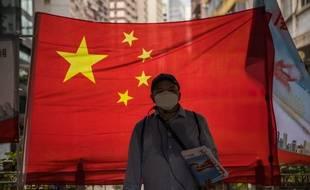 Un drapeau chinois à Hong Kong, le 1er juillet 2020.