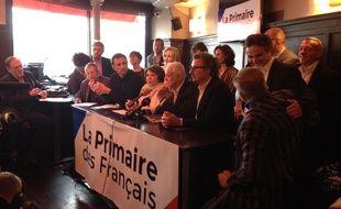 Les animateurs de la «Primaire des français», lancée le 11 avril 2016 à Paris.