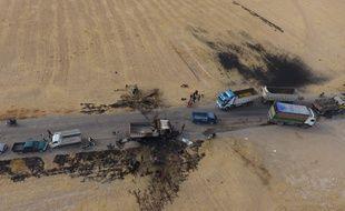 Une photo prise à l'endroit où a été conduite l'opération américaine contre Abou Bakr Al-Baghdadi.