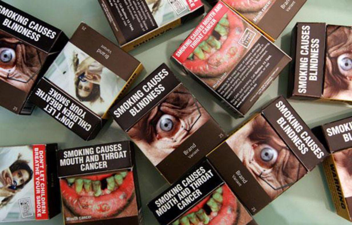 Les nouveaux paquets de cigarettes australiens. – A.PRYKE/ Newspix / REX / SIPA