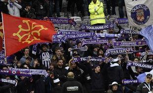 Des supporters du TFC lors du match de Ligue 1 contre Lille, le 5 mars 2017 au Stadium de Toulouse.