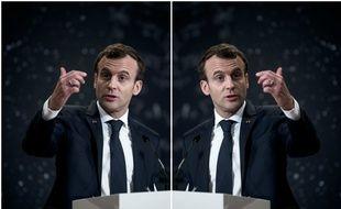 Emmanuel Macron au Collège de France pour présenter son plan sur l'intelligence artificielle, le 29 mars 2018 à Paris.