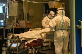 Un hôpital de Bologne (Italie) confronté au Covid-19 (illustration).