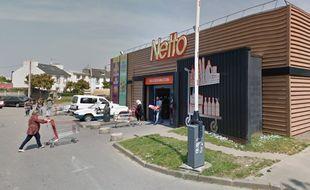 Le braquage s'est produit lundi soir vers 19h30 au supermarché Netto du quartier de Bellevue à Brest.