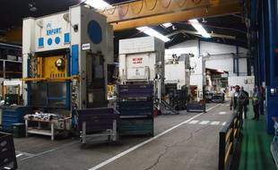 Les presses de l'usine de La Souterraine.